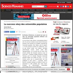La success story des universités populaires
