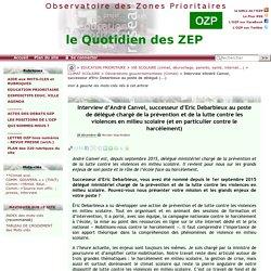 Interview d'André Canvel, successeur d'Eric Debarbieux au poste de délégué(...)