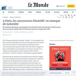 A Paris, les successeurs d'Autolib' en manque de notoriété