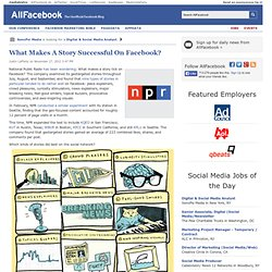 What Makes A Story Successful On Facebook?