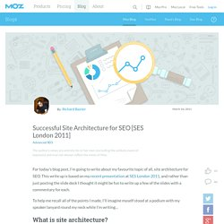 Successful Site Architecture for SEO [SES London 2011]