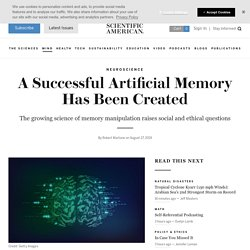 A Successful Artificial Memory Has Been Created
