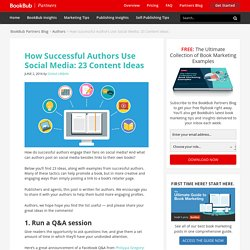 How Successful Authors Use Social Media: 23 Content Ideas