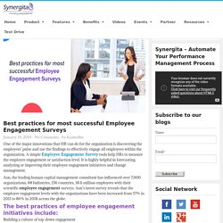 Best practices for most successful Employee Engagement Surveys - Synergita Blogosphere