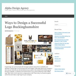 Ways to Design a Successful Logo Buckinghamshire