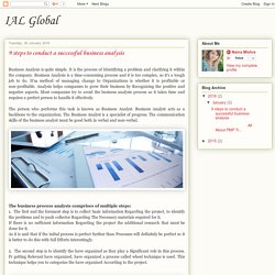 IAL Global: 9 steps to conduct a successful business analysis