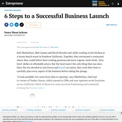 6 Steps to a Successful Business Launch