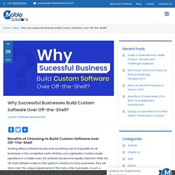 Why Successful Businesses Build Custom Software Over Off-the-Shelf? - Mobio Solutions