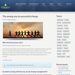 The wrong way to successful change – Philip Oude-Vrielink Philip Oude-Vrielink