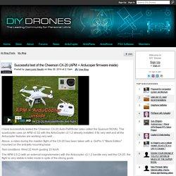 Successful test of the Cheerson CX-20 (APM + Arducoper firmware inside)
