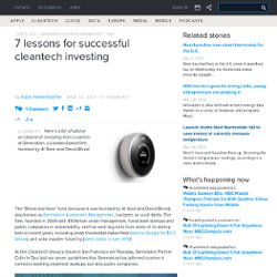 7 lessons for successful cleantech investing