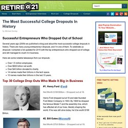 The Most Successful College Dropouts In History
