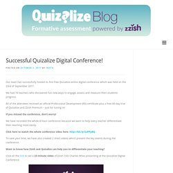 Successful Quizalize Digital Conference! - Quizalize Blog