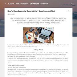 How To Make Successful Content Writer? Some Important Tips!