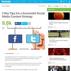 5 Key Tips for a Successful Social Media Content Strategy