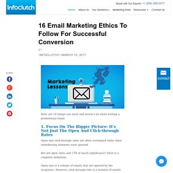 16 Email Marketing Ethics To Follow For Successful Conversion