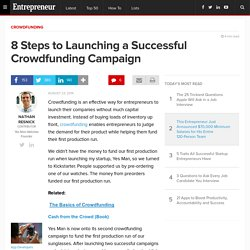 8 Steps to Launching a Successful Crowdfunding Campaign