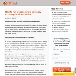 How to run a successful e-currency exchange business online - Bitdeal