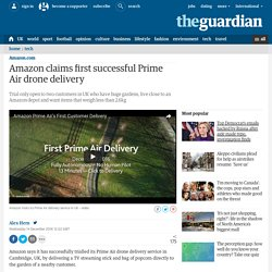 Amazon claims first successful Prime Air drone delivery