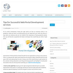 Tips for Successful Web Portal Development services