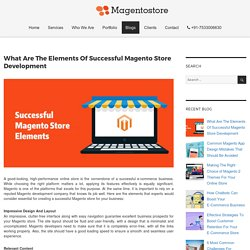 What Are The Elements Of Successful Magento Store Development – Magento Store Blog