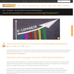 How to be Successful in E-commerce and Web Development?
