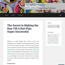 The Secret to Making the Raw Till 4 Diet Plan Super Successful