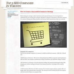 How to Create a Successful eCommerce Strategy - Top 5 SEO Companies In Toronto