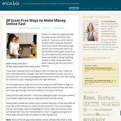 20 Scam-Free Ways to Make Money Online Fast