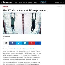The 7 Traits of Successful Entrepreneurs