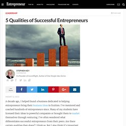 5 Qualities of Successful Entrepreneurs