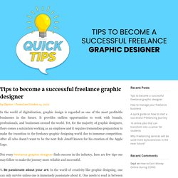 Tips to become a successful freelance graphic designer - Ekprice