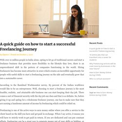 A quick guide on how to start a successful Freelancing Journey - Ekprice