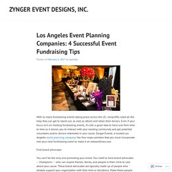 LOS ANGELES EVENT PLANNING COMPANIES: 4 SUCCESSFUL EVENT FUNDRAISING TIPS