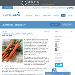 Successful Hospitality : Growing sales from your garden