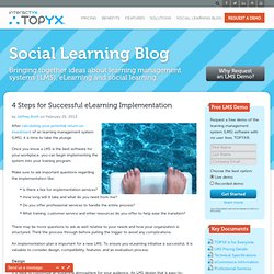 4 Steps for Successful eLearning Implementation