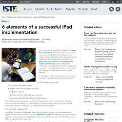 6 elements of a successful iPad implementation