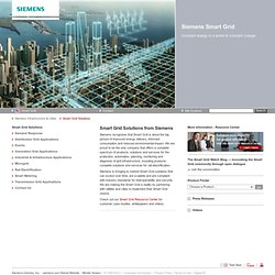 Siemens - Smart Grid – The Partner of Choice for Successful Smart Grid Implementations - Smart Grid Solutions