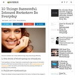 Top 10 Tips For Successful Inbound Marketers