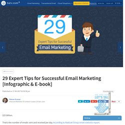 29 Expert Tips for Successful Email Marketing [Infographic & E-book]