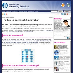 The key to successful innovation