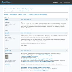 Boot Error 17 after successful installation (Page 1) / Installation / ArchBang Forums