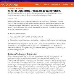 What Is Successful Technology Integration?