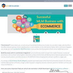 Successful MLM Business with Ecommerce Integration