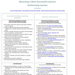 Becoming a More Successful Intentional Learner - Conforming