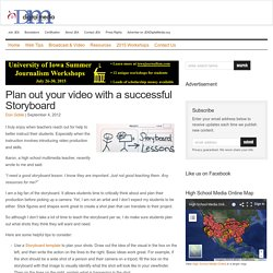 Plan out your video with a successful Storyboard