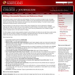 Top 10 ideas to build a strong resume for media and journalism