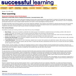 Successful Learning: Peer Learning