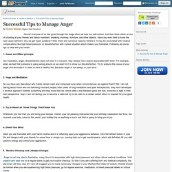 Successful Tips to Manage Anger by Susan George