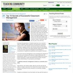 Top 10 Secrets of Successful Classroom Management